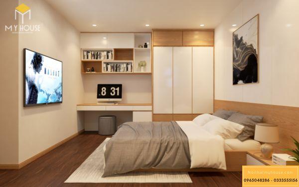 Thiết kế nội thất Vinhomes Symphony phòng ngủ - hình 9