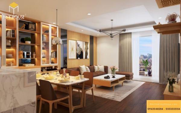 Thiết kế nội thất Vinhomes Symphony phòng khách - hình 2