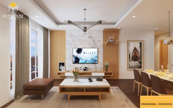 Nội thất phong khách Hinode 3 ngủ 105m2 - hình 2