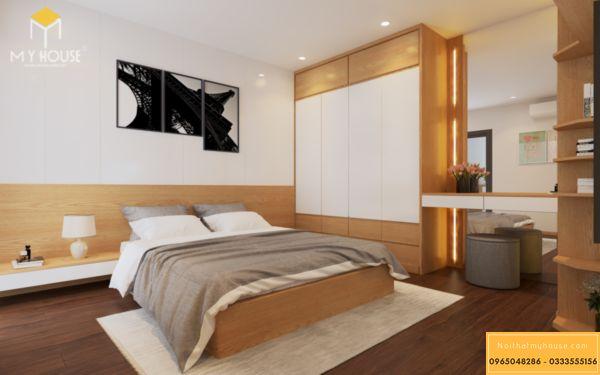 Thiết kế nội thất Vinhomes Symphony phòng ngủ - hình 8