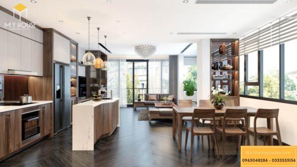 Thiết kế nội thất Vinhomes Symphony phòng bếp - hình 16