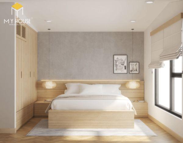 Thiết kế căn hộ chung cư 50m2 2 phòng ngủ