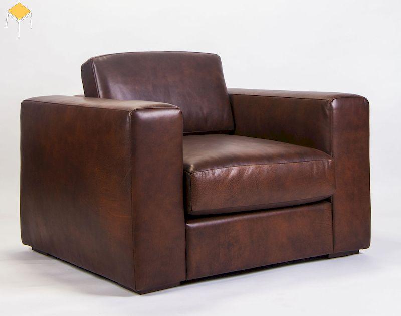 Mẫu sofa đơn bằng da