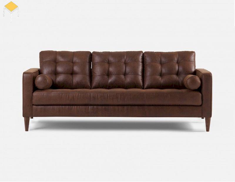 Mẫu bàn ghế sofa da phòng khách cao cấp