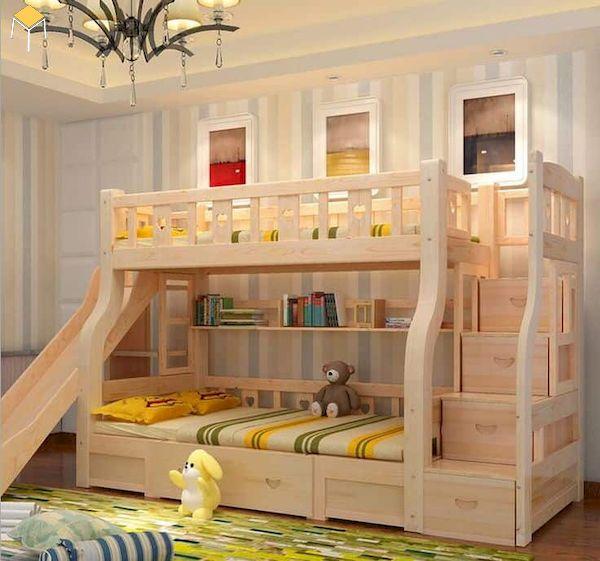 Kích thước giường tầng kết hợp cầu trượt