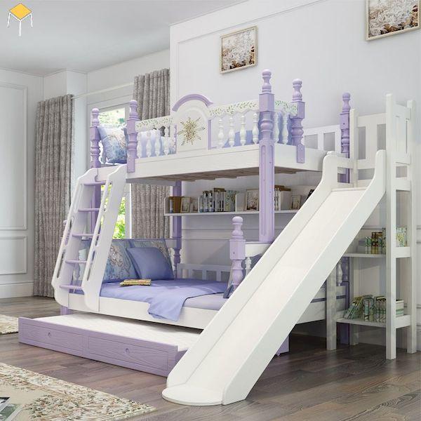 giường tầng gỗ công nghiệp