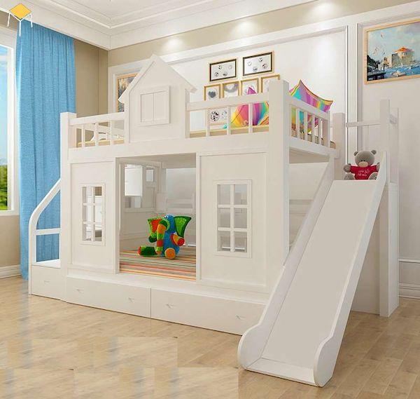 Thiết kế an toàn cho giường tầng có cầu trượt