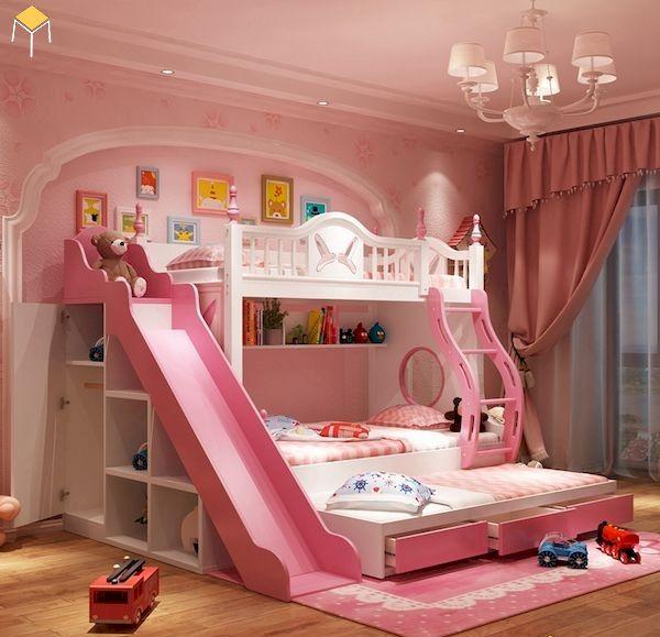 Mẫu giường tầng có cầu trượt giá rẻ