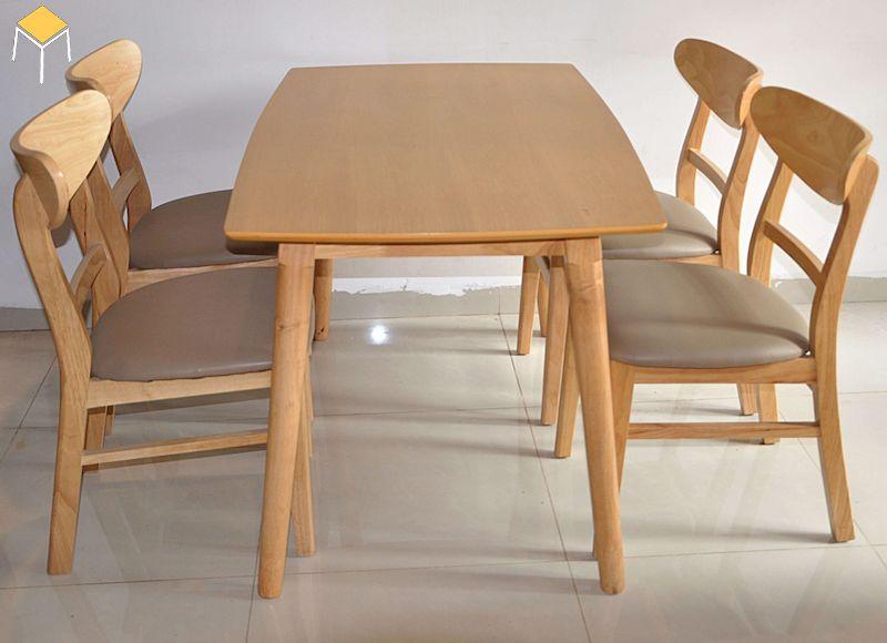 Bộ bàn ăn gỗ sồi đẹp cho phòng ăn hiện đại