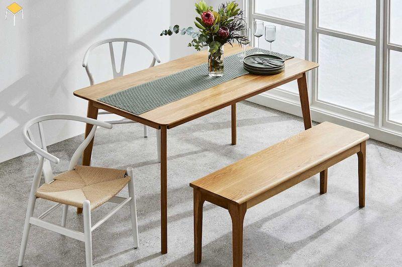 Bàn ăn gỗ sồi 4 ghế đẹp