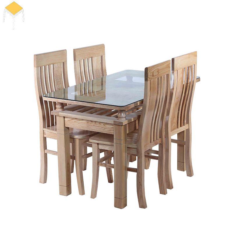 Kích thước bàn ăn gỗ sồi 4 ghế