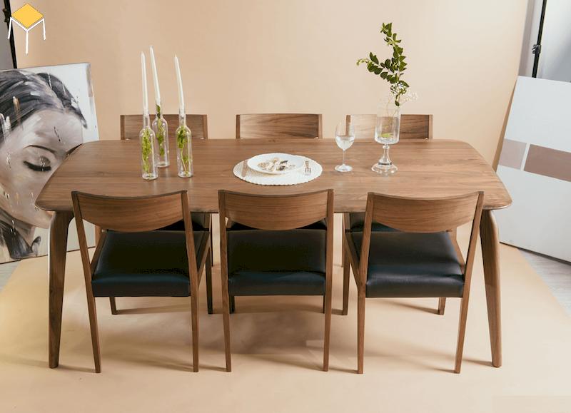 Xu hướng nội thất bàn ăn gỗ sồi 6 ghế cho gia đình