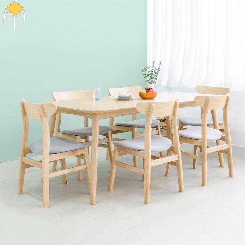 Kích thước bàn ghế gỗ sồi 6 ghế
