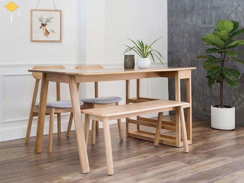 Báo giá bộ bàn ăn gỗ sồi 6 ghế chi tiết 2021