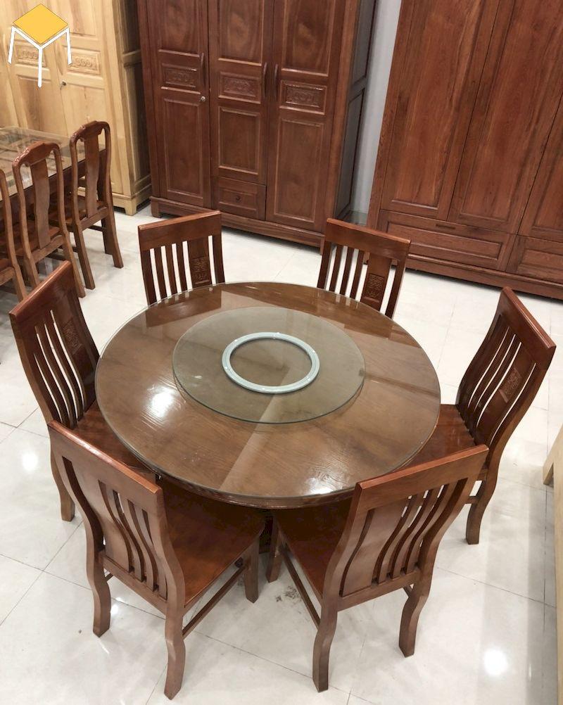 Mẫu bàn ăn gỗ sồi 6 ghế