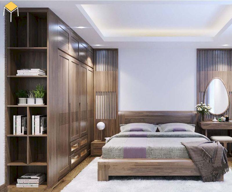 Tủ quần áo gỗ tự nhiên có độ bền cao, sử dụng lâu dài