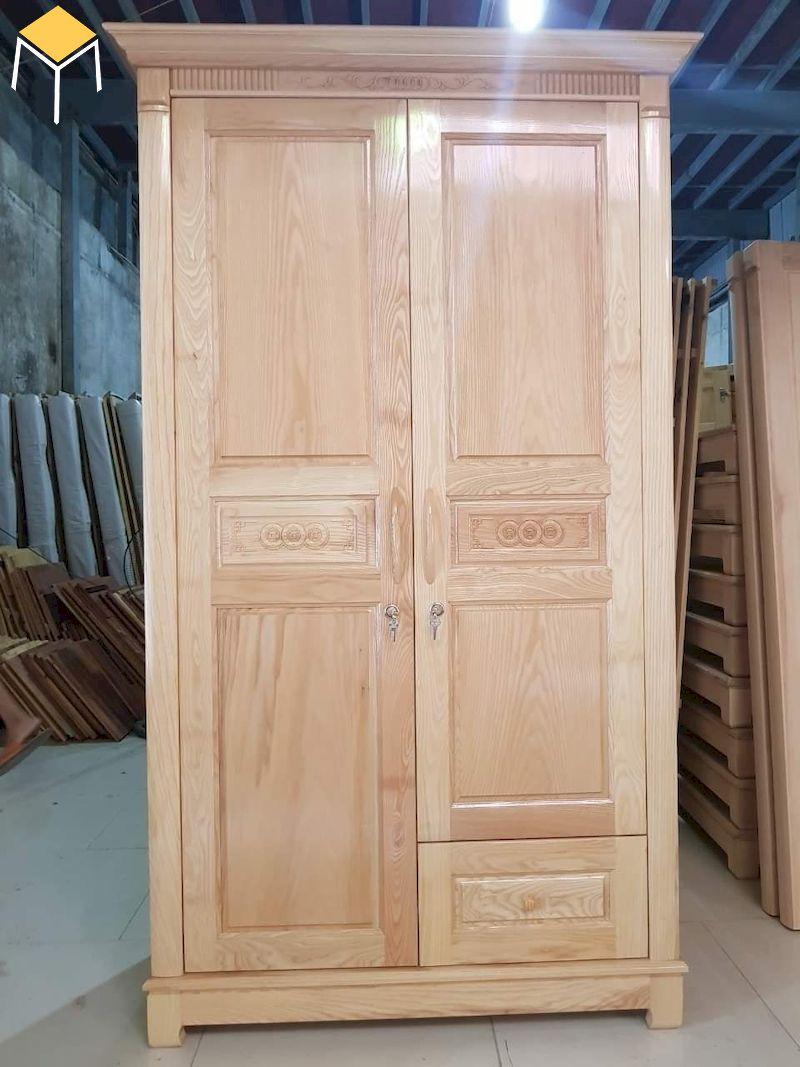 Tủ quần áo 2 cánh cửa mở