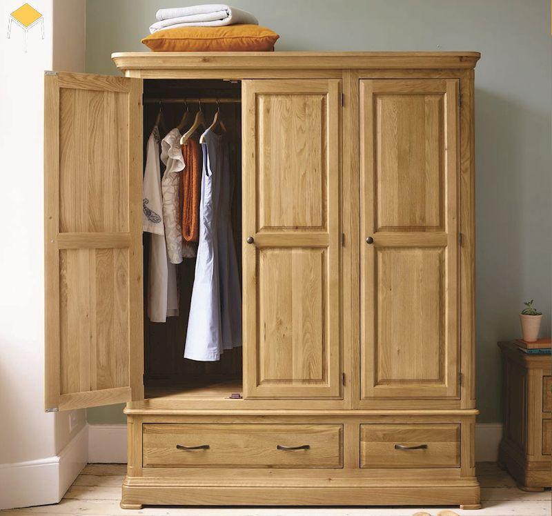 Các kiểu tủ quần áo gỗ tự nhiên thông dụng trên thị trường