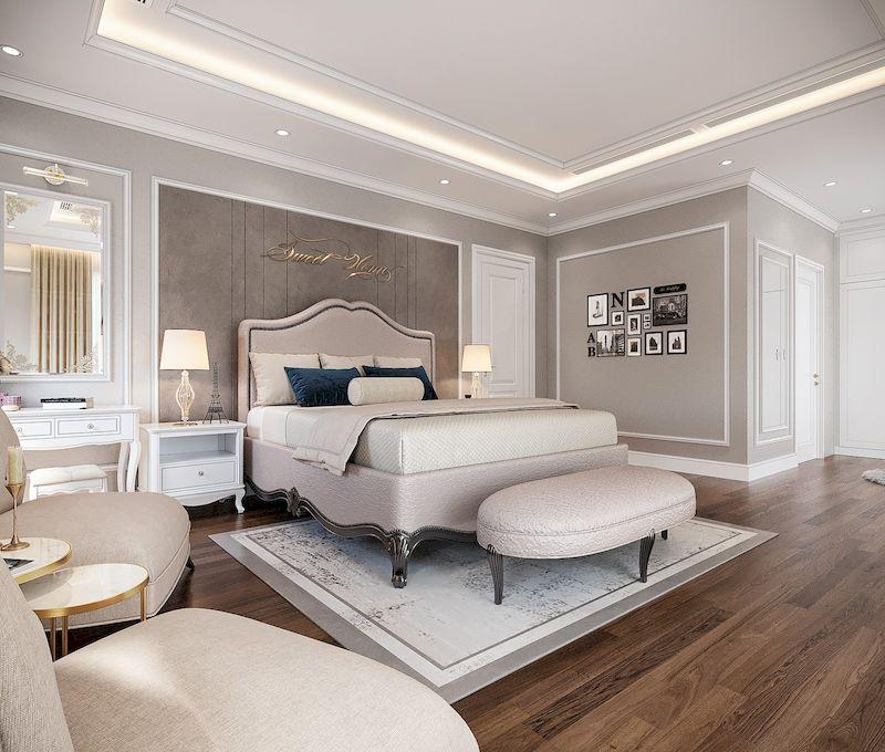 Lưu ý khi mua nội thất cho phòng ngủ tân cổ điển - kích thước