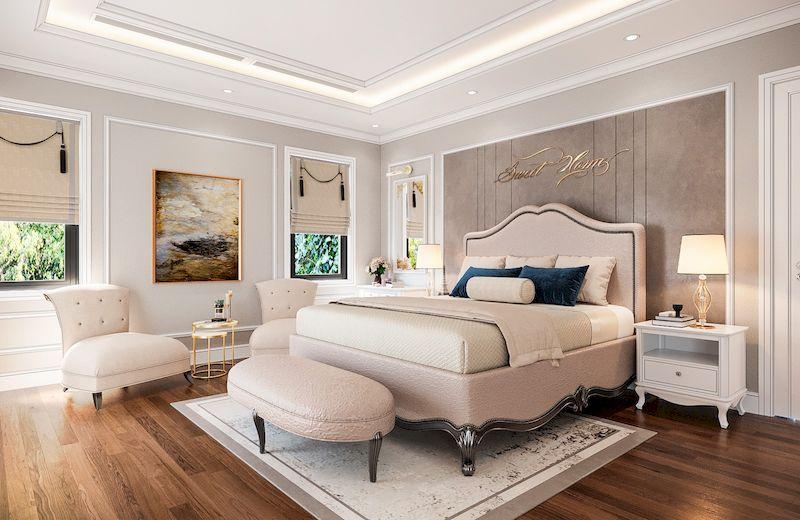 Lưu ý khi mua nội thất cho phòng ngủ tân cổ điển - màu sắc