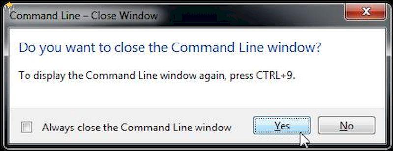 Nhấn enter và điều chỉnh lệnh command line dưới hình vẽ