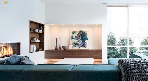 Một số lưu ý khi thiết kế tủ âm tường phòng khách