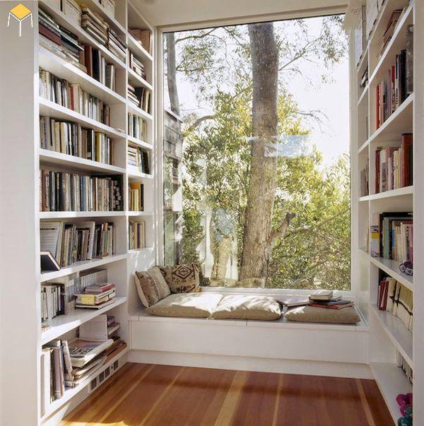 Thiết kế kệ sách phòng ngủ