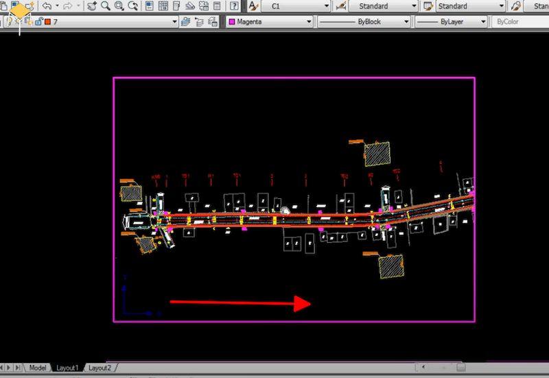 Hướng dẫn xoay bản vẽ trong layout autocad