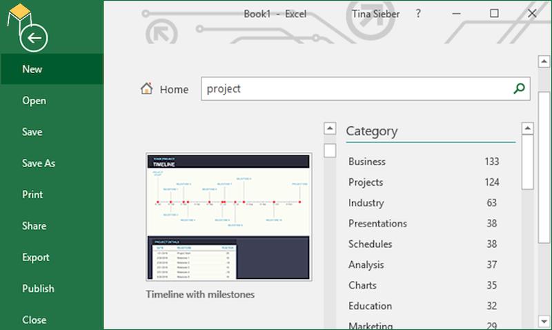 Tìm kiếm biểu mẫu quản lý dự án bằng excel đơn giản