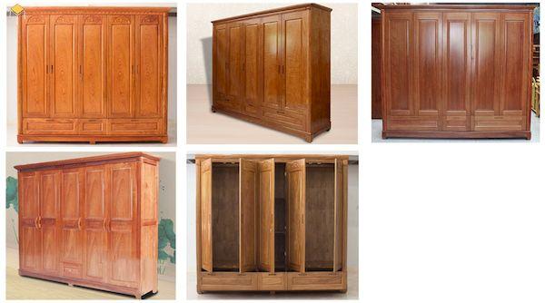 Tổng hợp các mẫu tủ quần áo gỗ tự nhiên 5 cánh đang được ưa chuộng
