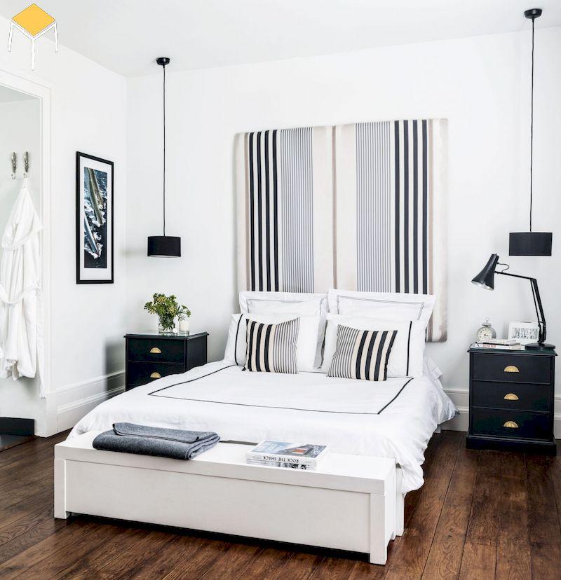 Thiết kế nội thất phòng ngủ đẹp cho nữ màu trắng