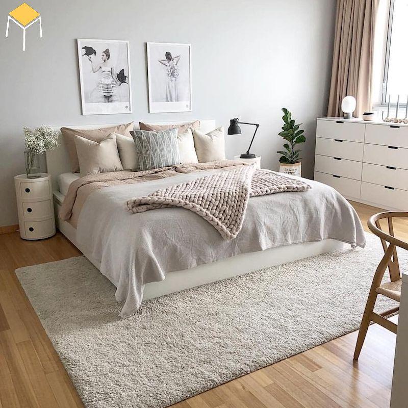 Phòng ngủ đẹp cho nữ màu trắng - yếu tố ánh sáng