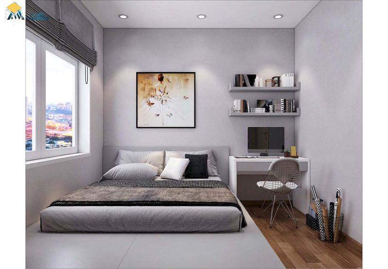 Trang trí phòng ngủ đẹp cho nữ màu trắng