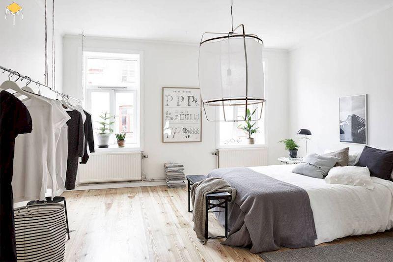 Trang trí phòng ngủ màu trắng
