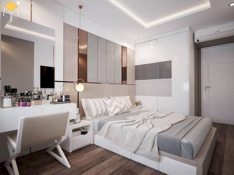 Phòng ngủ đẹp cho nữ màu trắng - lựa chọn giường ngủ