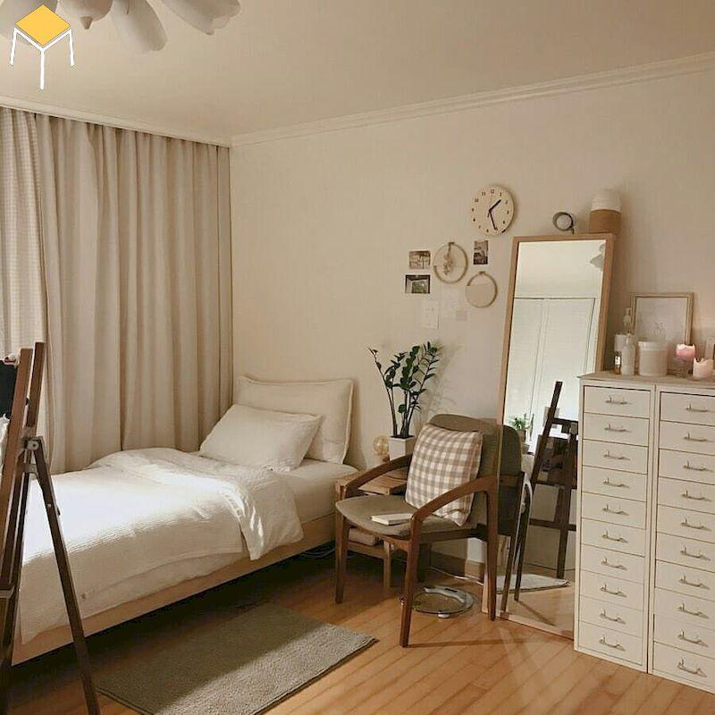 Phòng ngủ cho nữ phong cách Hàn Quốc