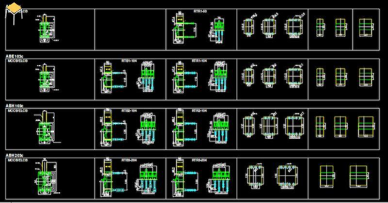 Bản vẽ hộp tủ điện công nghiệp trong cad