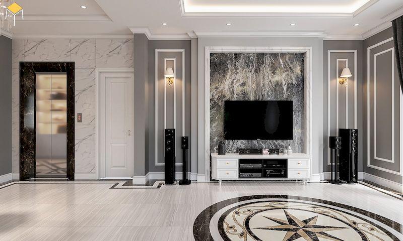 Trang trí kệ tivi tăng vẻ đẹp cho phòng khách - 2