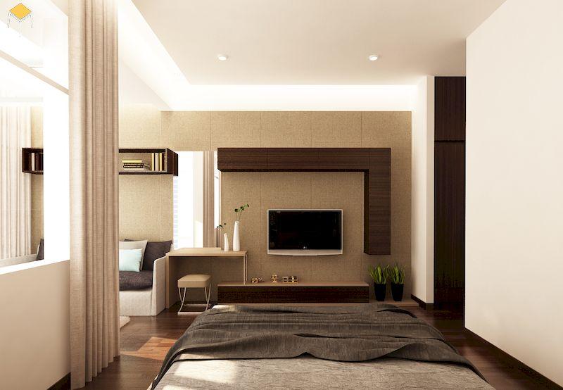 Mẫu kệ tivi phòng ngủ đơn giản