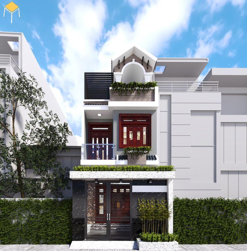 Sơn trang trí mặt tiền nhà phố hiện đại