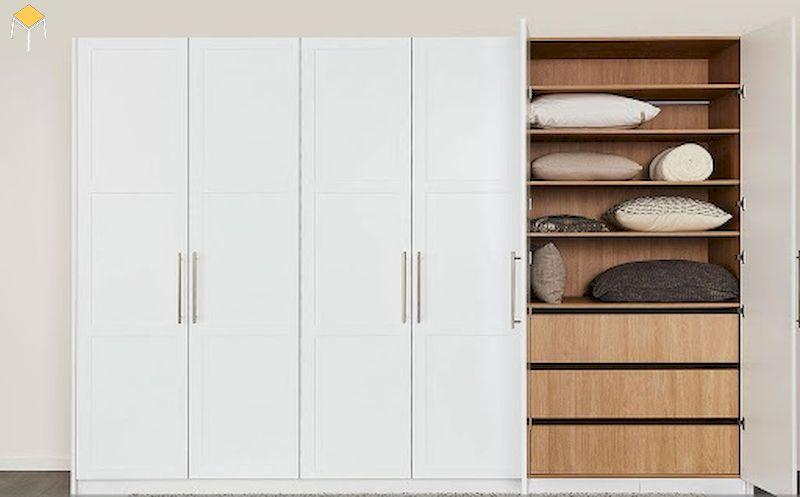Nhược điểm cần khắc phục của tủ quần áo gỗ công nghiệp 5 cánh