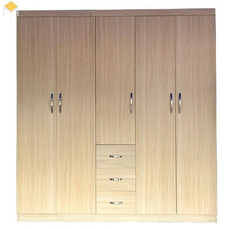 Mẫu tủ quần áo gỗ công nghiệp phủ Veneer