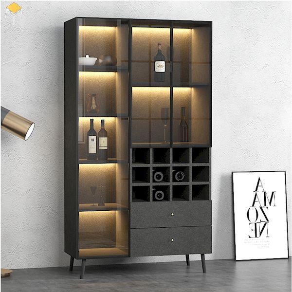Tủ rượu gỗ công nghiệp phòng khách