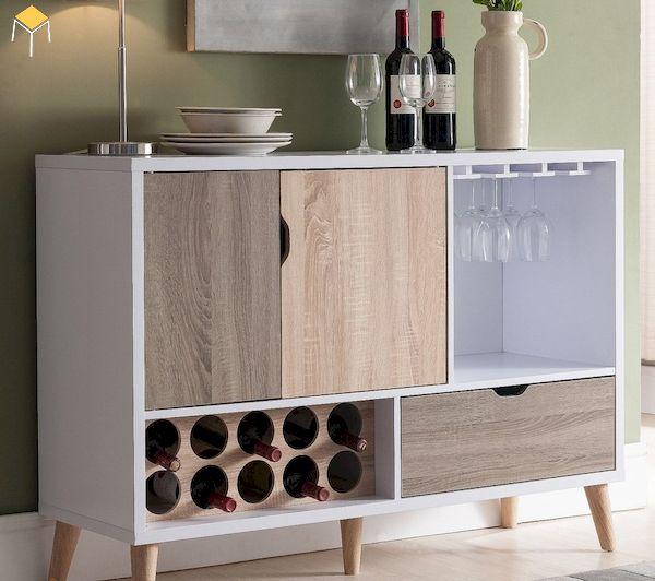 Tủ rượu gỗ công nghiệp phòng bếp