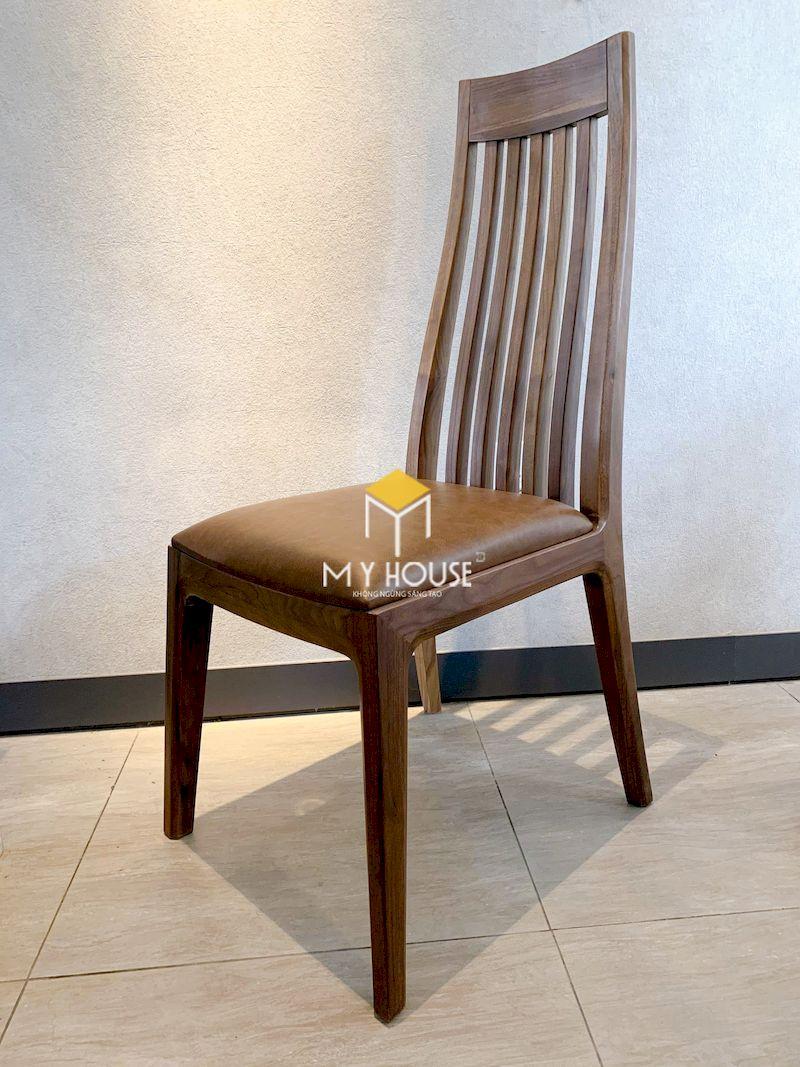 Mẫu ghế ăn gỗ óc chó 3