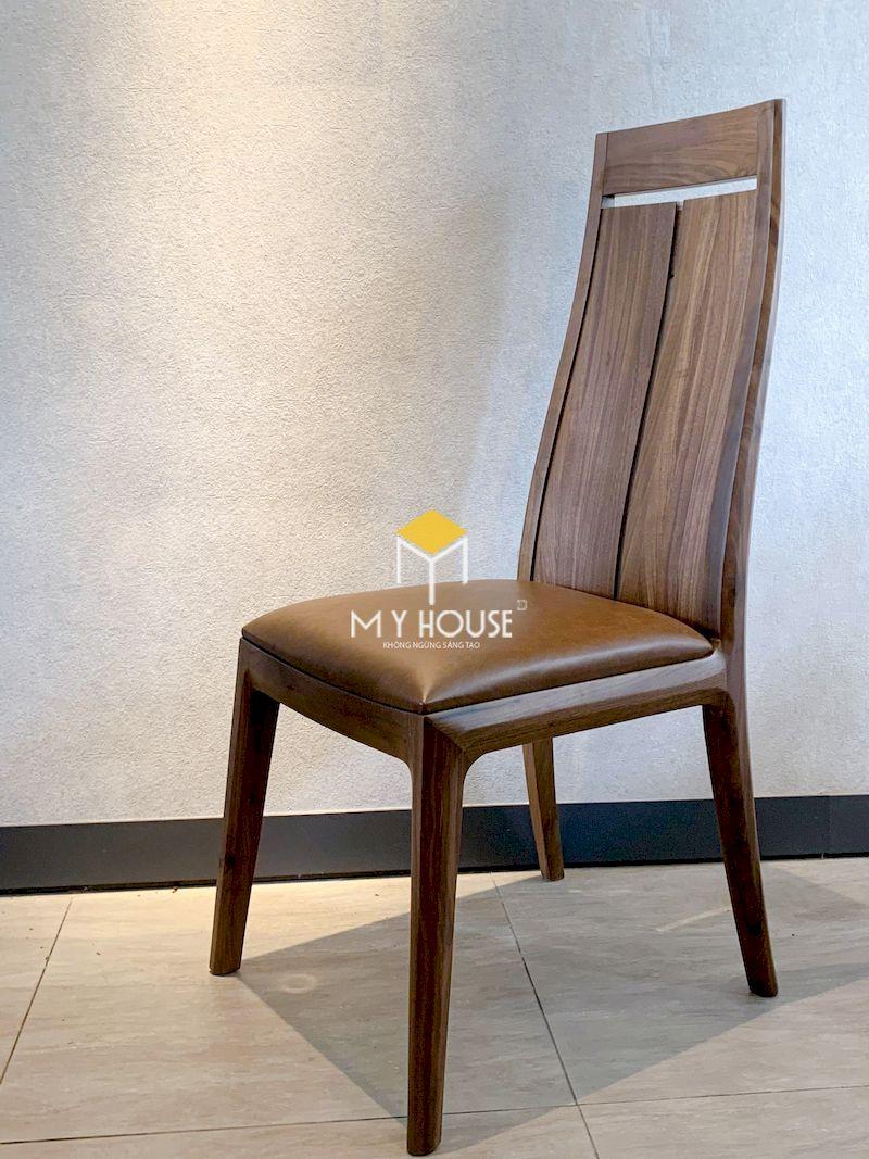 Mẫu ghế ăn gỗ óc chó 1