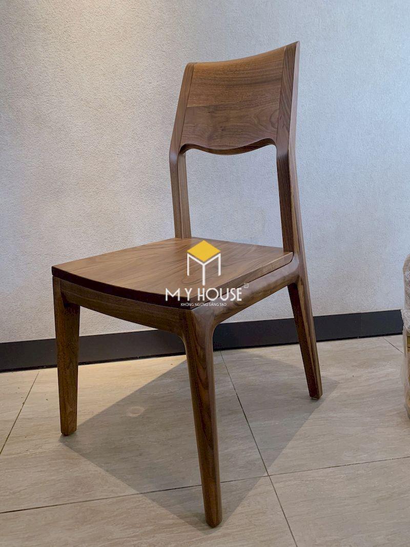Mẫu ghế ăn gỗ óc chó 2
