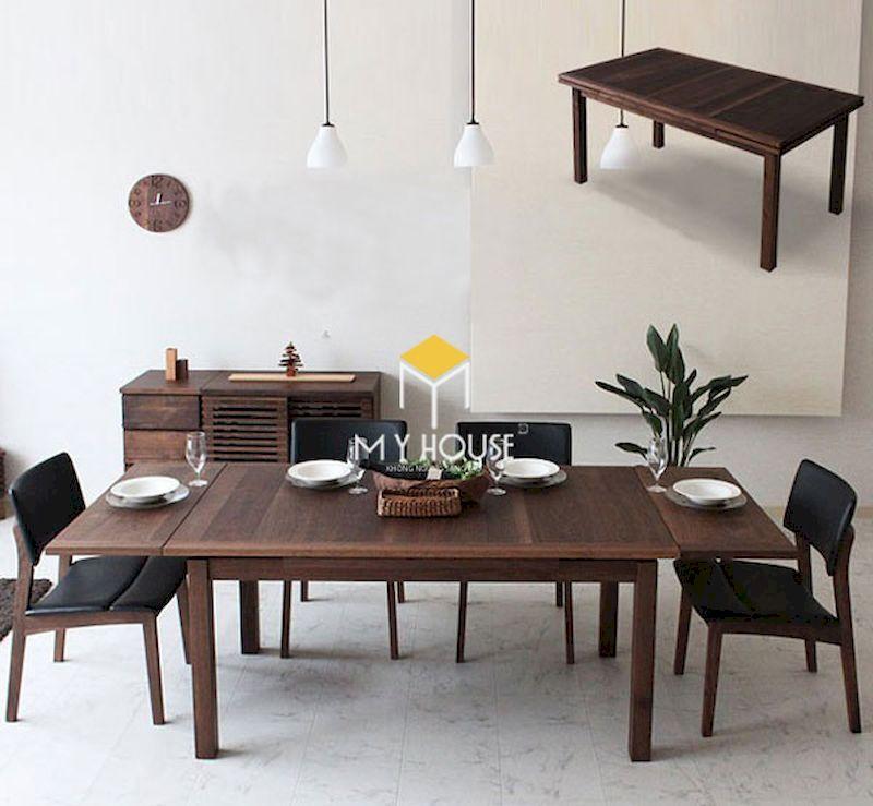 Bộ bàn ăn 4 ghế gỗ óc chó sang trọng