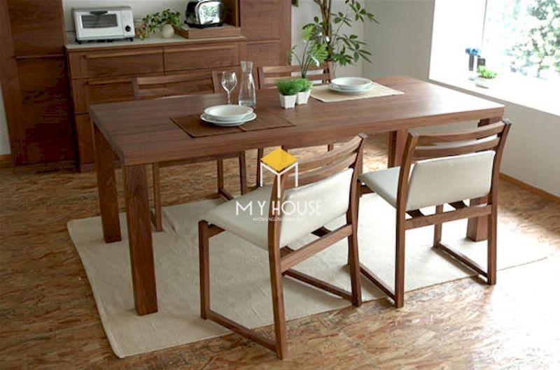 Mẫu bàn ghế óc chó đẹp phong cách hiện đại