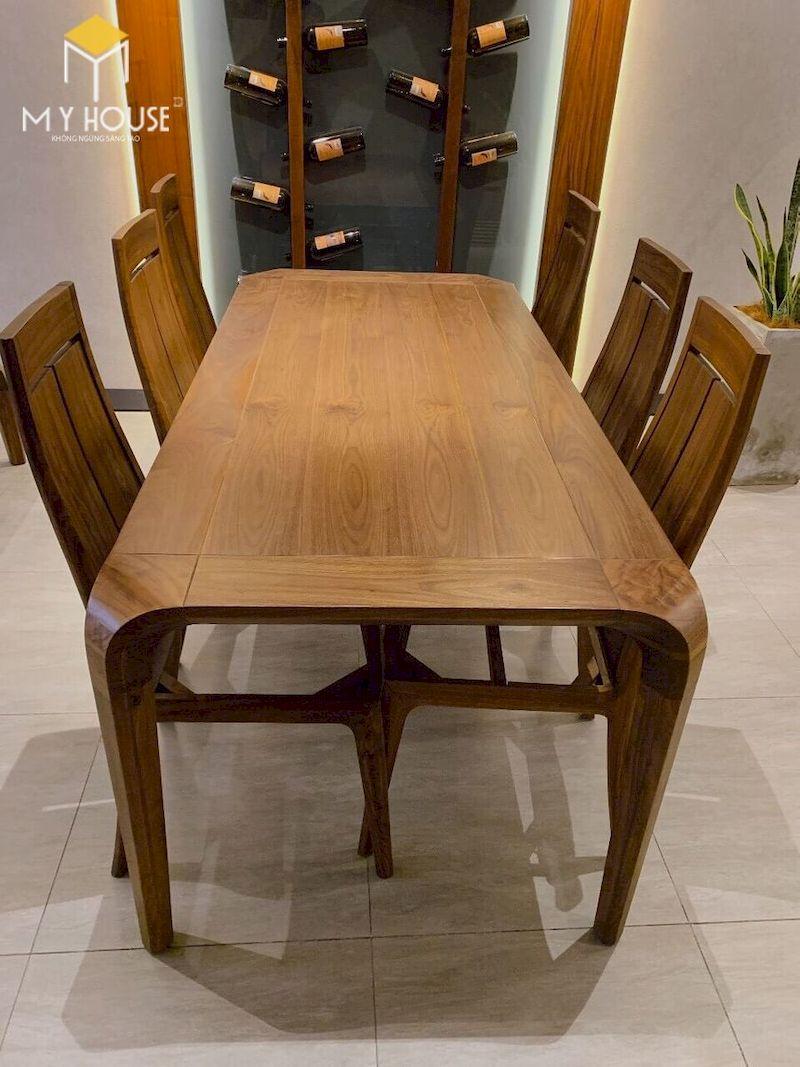Mẫu bàn ăn 6 ghế gỗ óc chó